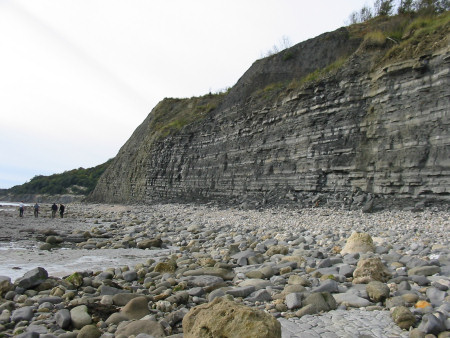 Ware Cliffs above Monmouth Beach towards Pinhay Bay near Lyme Regis