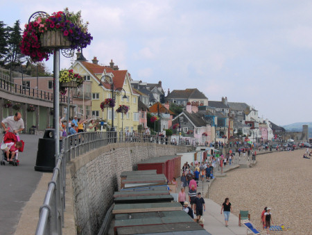 Sea front and promenade at Lyme Regis