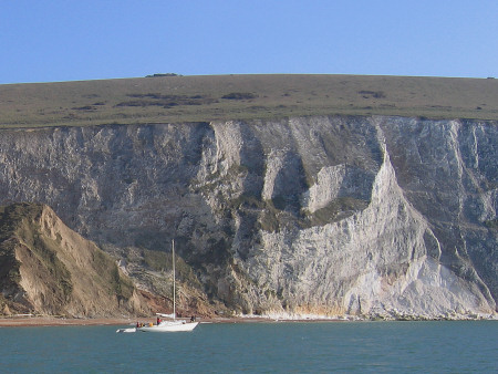 Chalk cliffs at Alum Bay