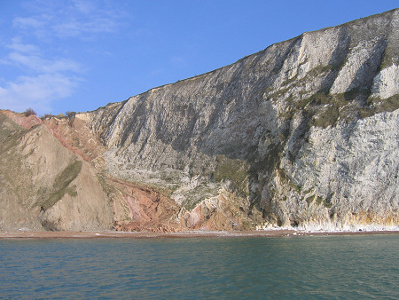 Cliffs at the southern end of Alum Bay