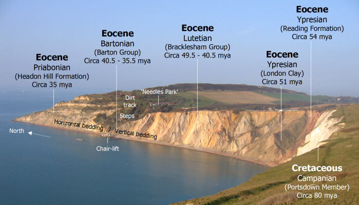 Geology diagram of Alum Bay