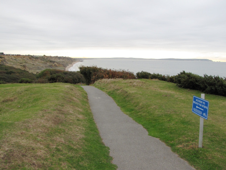 Public footpath to the beach at Barton on Sea