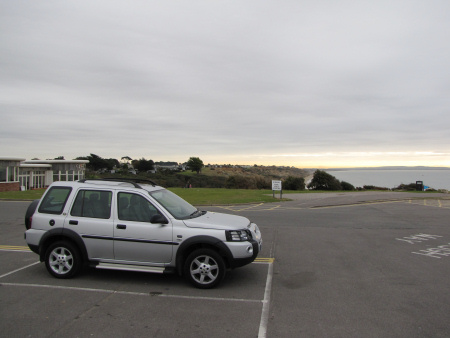 Car park at Barton on Sea