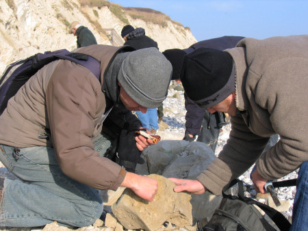 Robert Randell fossil hunting at Beachy Head