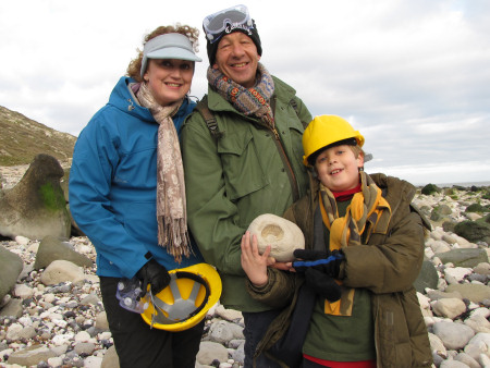 Family fossil hunting at Beachy Head