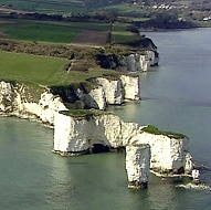 Old Harry Rocks chalk cliffs