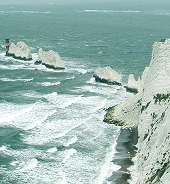 The Needles chalk cliffs