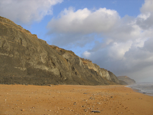 Chamouth cliffs with Golden Cap in the distance