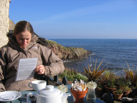 Lucinda Shepherd in the Crail cafe