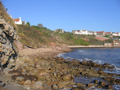 Crail bay and cliffs