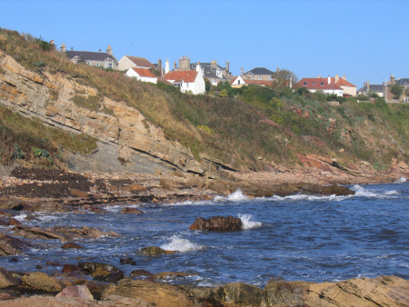 Sedimentary layers in the cliffs at Crail