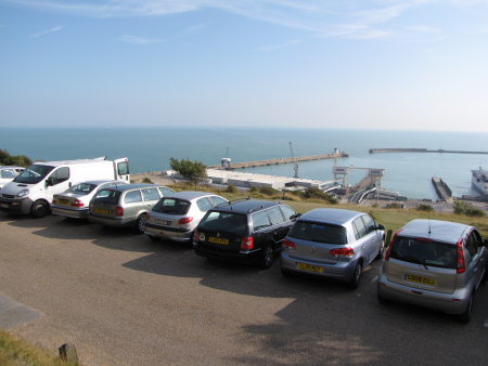 National Trust car park at Dover