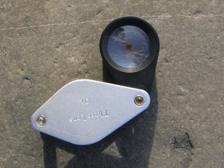 Fossil hunting hand lens