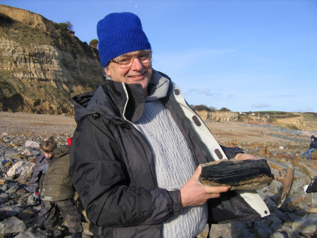 Fossil hunter at Fairlight