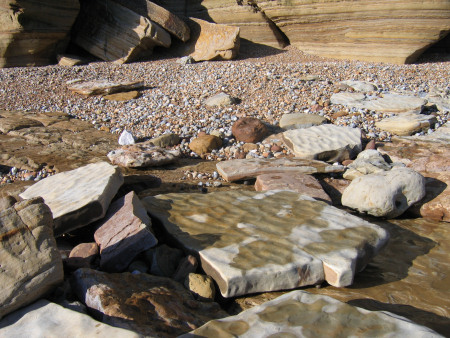 Rippled prehistoric sediment at Fairlight