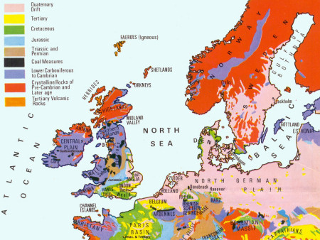 The geology of Europe