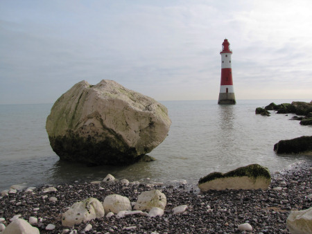 Beachy Head light house high-tide