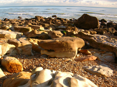 Boulders on the foreshore at Hastings