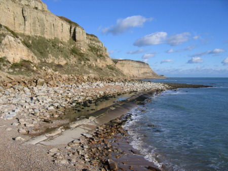 Sandstone cliffs at Hastings