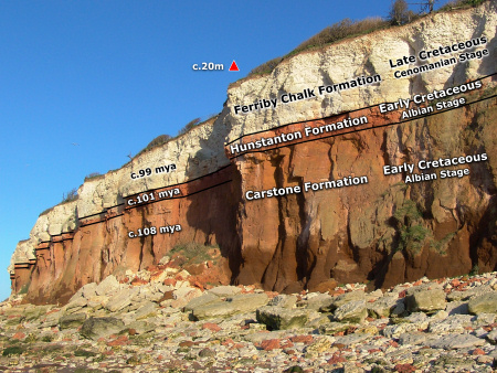 Hunstanton geology diagram by Roy Shepherd