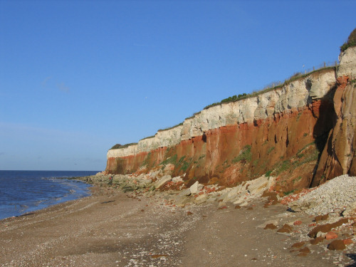 Red and white cliffs at Hunstanton