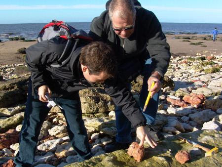 Roy Shepherd fossil hunting at Hunstanton