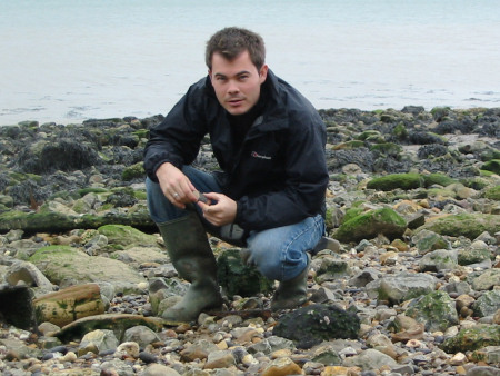 Roy Shepherd fossil collecting at Warden Point