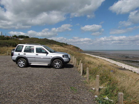 Silver Land Rover Freelander parked near Warden Point