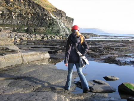 Lucinda Shepherd fossil hunting at Kimmeridge
