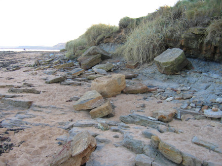 Loose boulders at Kingsbarns