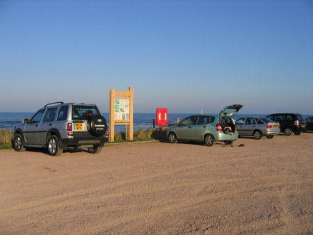 Parking facilities at Kingsbarns