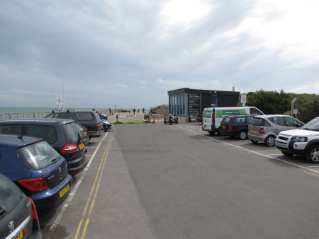 Littlehampton West Beach parking facilities and cafe