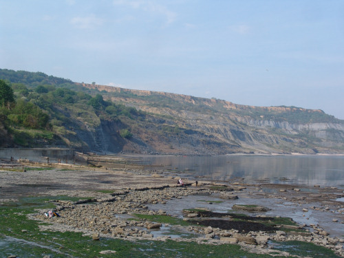 View from Lyme Regis towards Black Ven in the distance