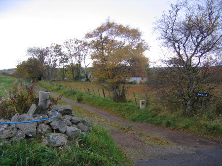 Footpath leading to the River Brora