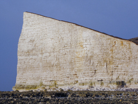 Chalk cliffs alongside Hope Gap at Seaford Head