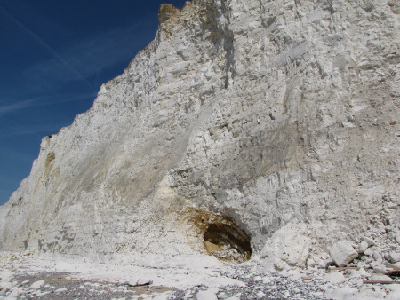 Dissolution pipe through the chalk at Seven Sisters