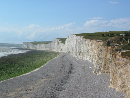 View from Birling Gap across the Seven Sisters cliffs