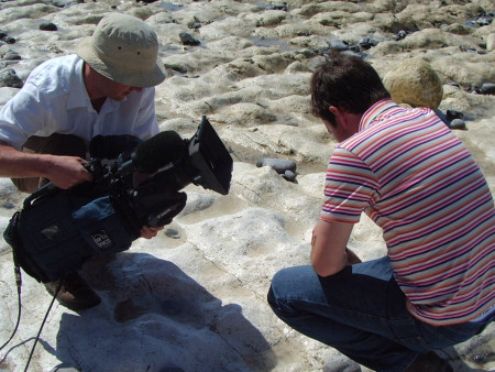Roy Shepherd decribes the fossils at Seven Sisters for Britain's Favourite View ITV