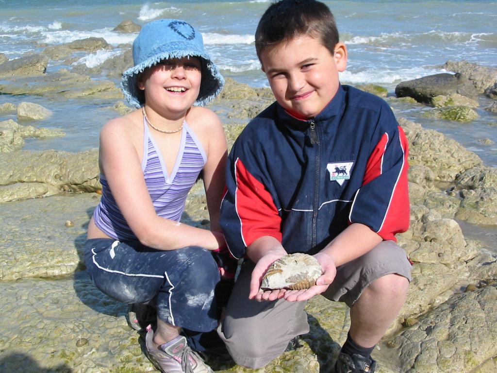 Beachy Head ammonite & children