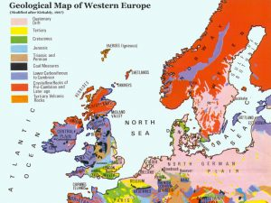 Geology Map of Europe