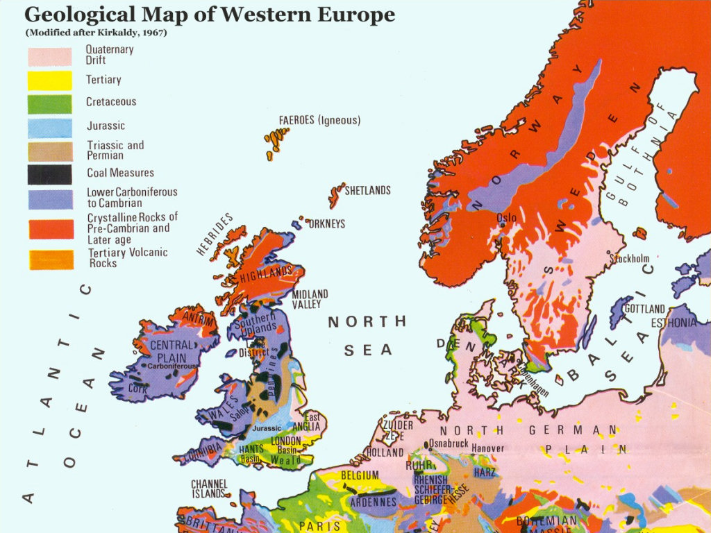 Geologic Map Of Europe.Fossil Hunting Guide Discovering Fossils