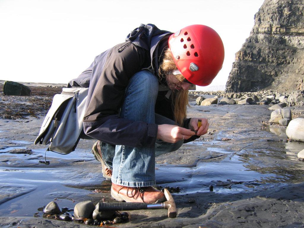 Lucinda Shepherd fossil hunting at Kimmeridge
