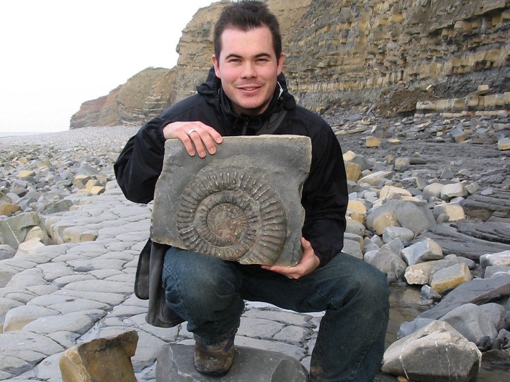 Roy Shepherd fossil hunting