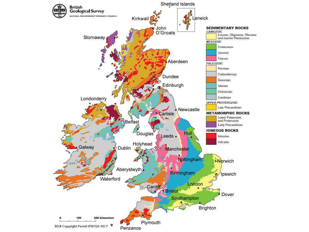UK geology map (source BGS)