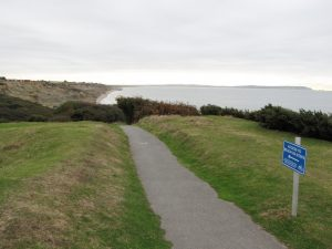 Barton on Sea access by path