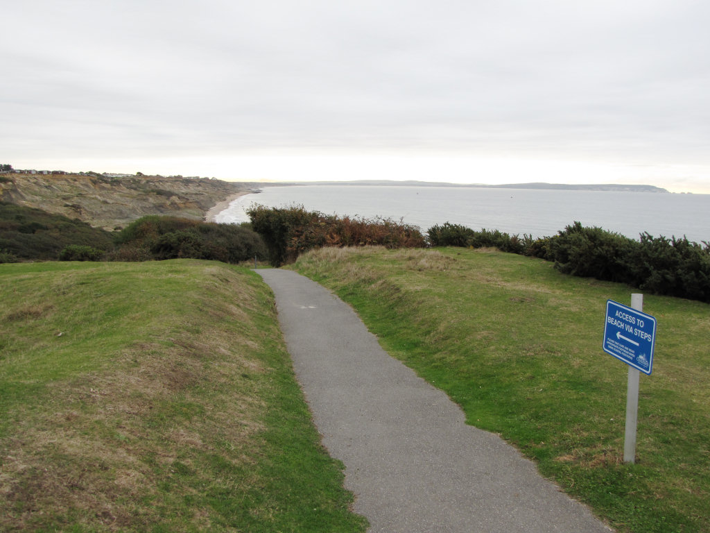 Barton on Sea access by path