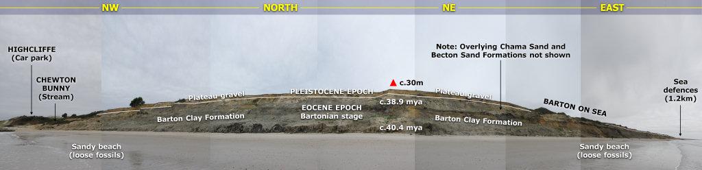 Barton on Sea geology