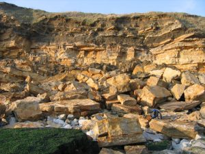 Durlston Bay rockfall