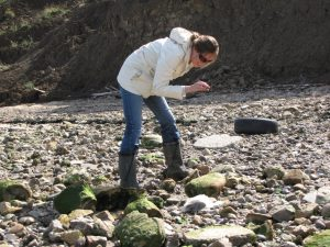 Isle of Sheppey Lucinda Shepherd fossil hunting