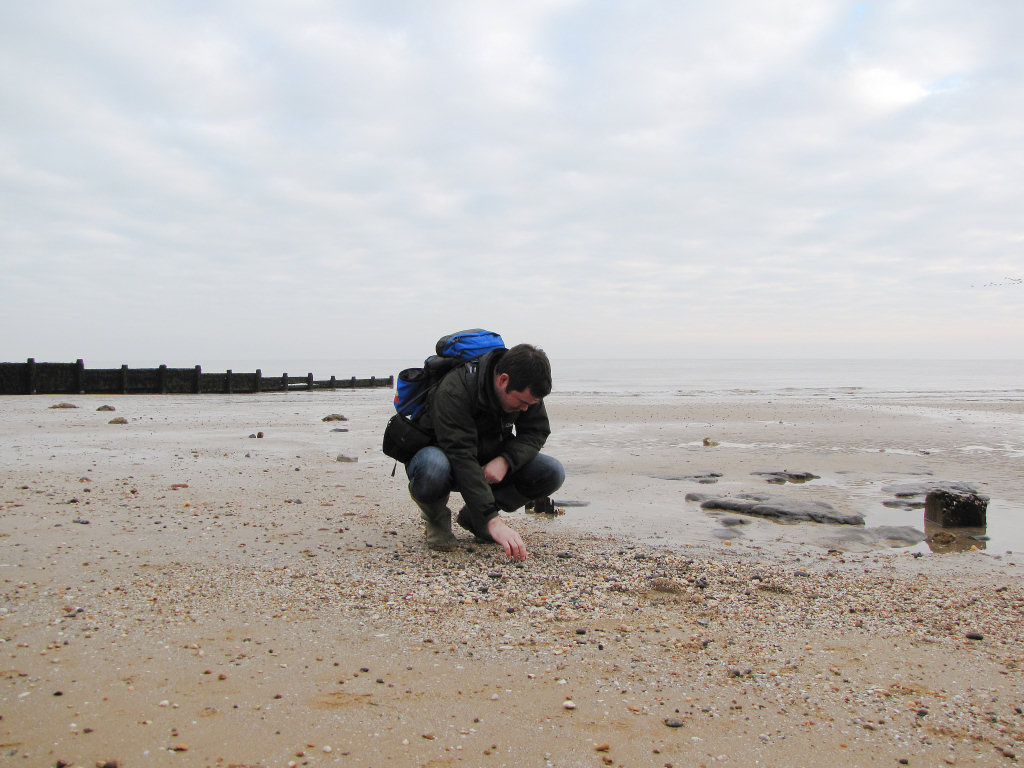 Walton-on-the-Naze Roy Shepherd fossil hunting